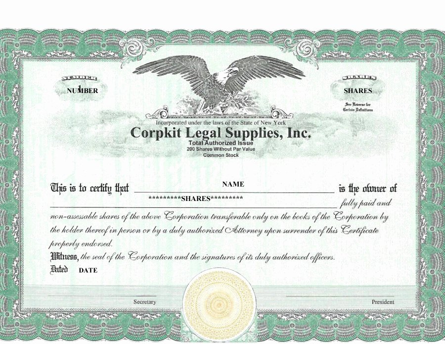 Corporate Stock Certificate Template Word Beautiful 40 Free Stock Certificate Templates Word Pdf
