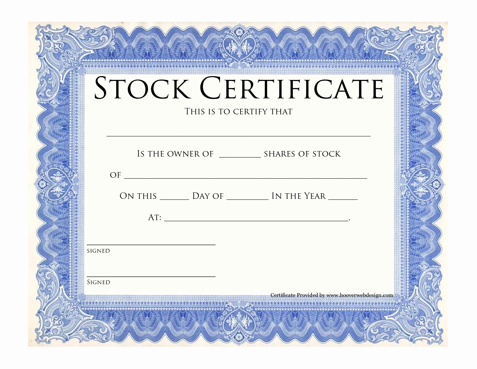 Corporate Stock Certificate Template Word Fresh Blank Stock Certificate Template