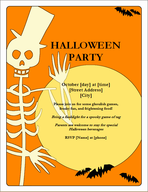 Costume Contest Certificate Template Awesome Halloween Party Flyer Template for Word