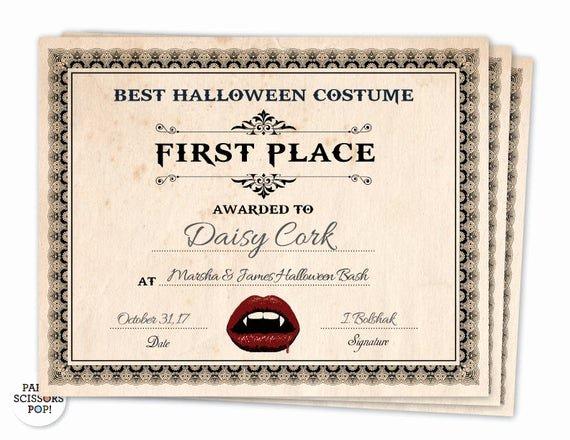 halloween award halloween costume