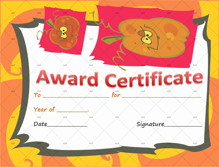 Costume Contest Certificate Template Inspirational Best Halloween Costume Award Certificate Template Gct