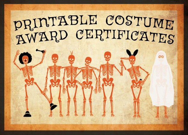 Costume Contest Certificate Template Lovely 10 Free Costume Award Certificates [printables
