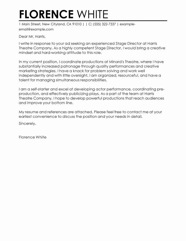 Cover Letter for Medical School Fresh Best Medical Cover Letter Examples