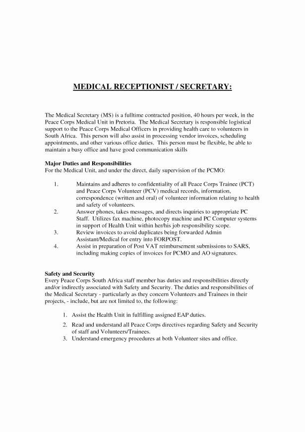 Cover Letter for Medical School Unique Receptionist Cover Letter with No Experience