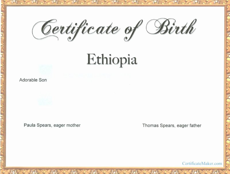Create Birth Certificate Template Beautiful Windows and android Free Downloads Create Fake Birth