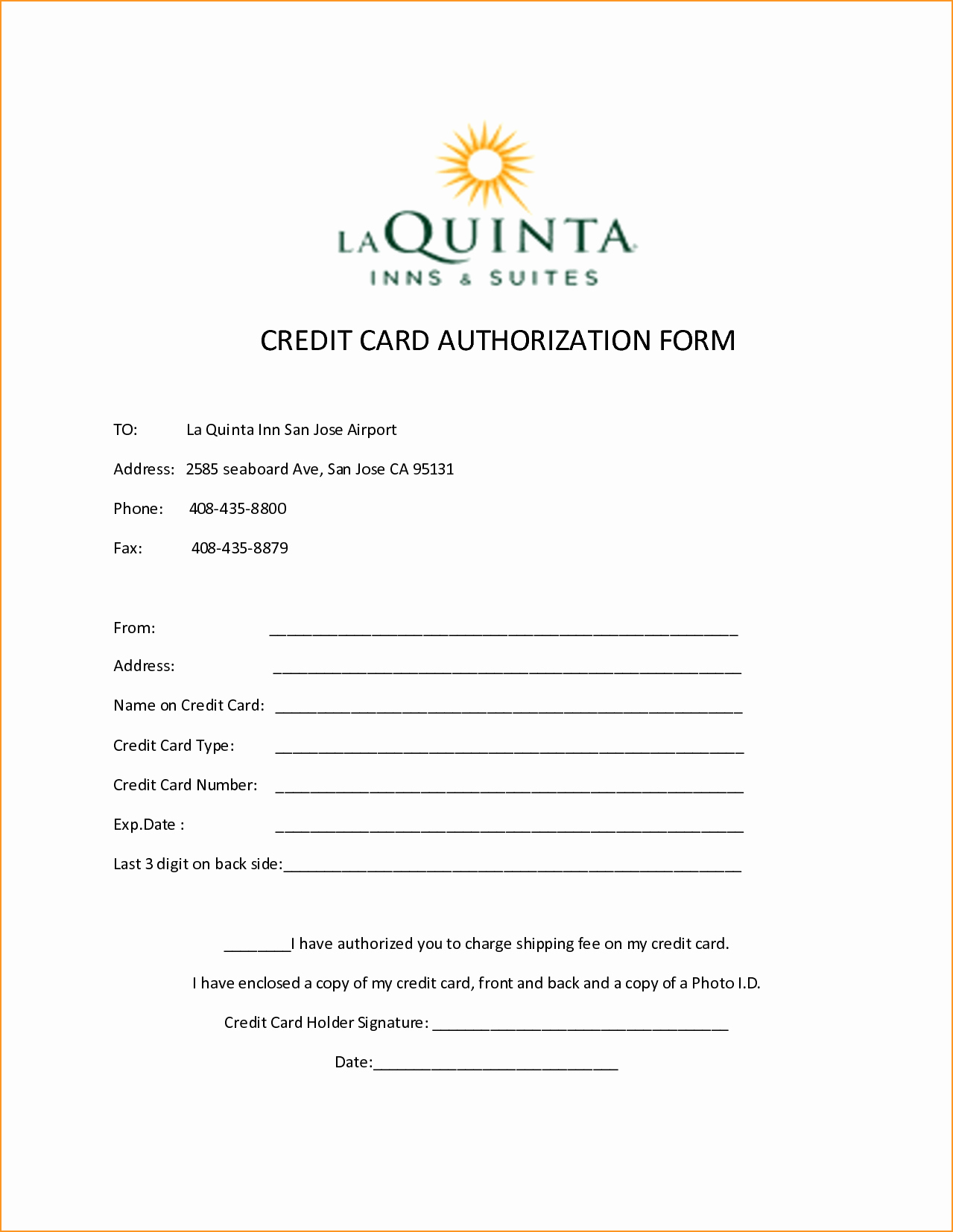 Credit Card Auth form Beautiful 10 Credit Card Authorization form Template Free Download
