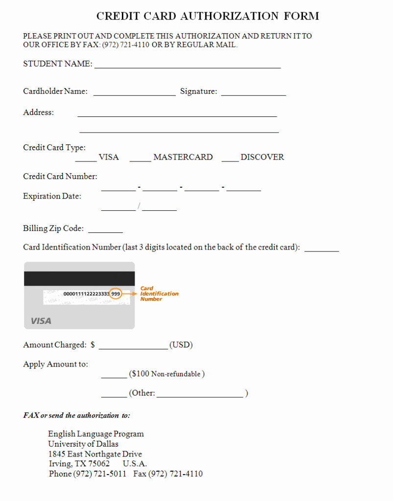 Credit Card Auth form Beautiful 33 Credit Card Authorization form Template Download Pdf