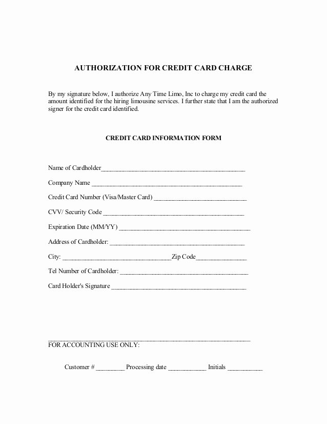 Credit Card Auth form Best Of Reservation Contract and Credit Card Authorization form