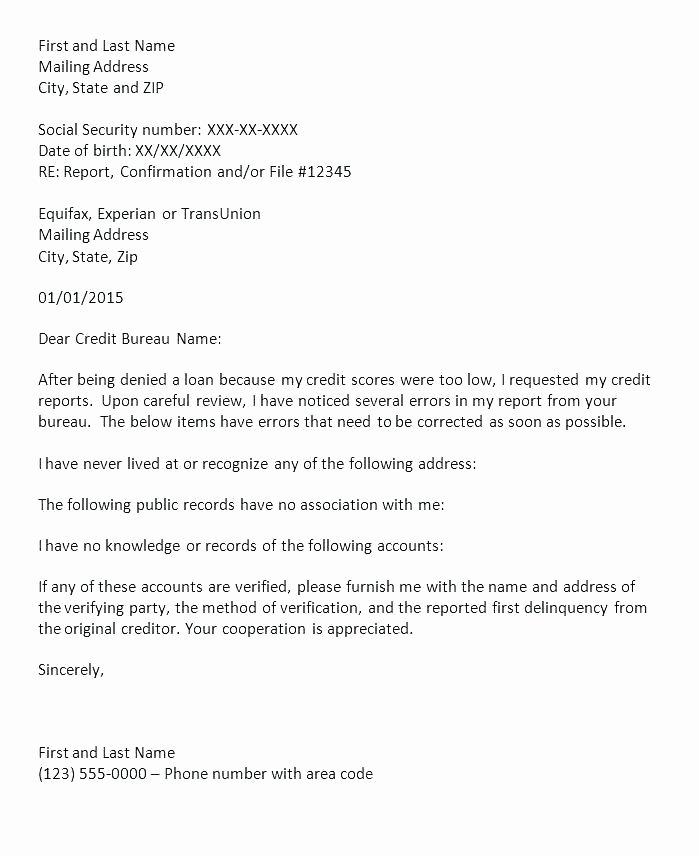 Credit Card Dispute Letter Template Inspirational Account Letter Template – Derbytelegraph