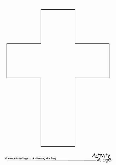 Cross Template Printable Free Beautiful Cross Template 2