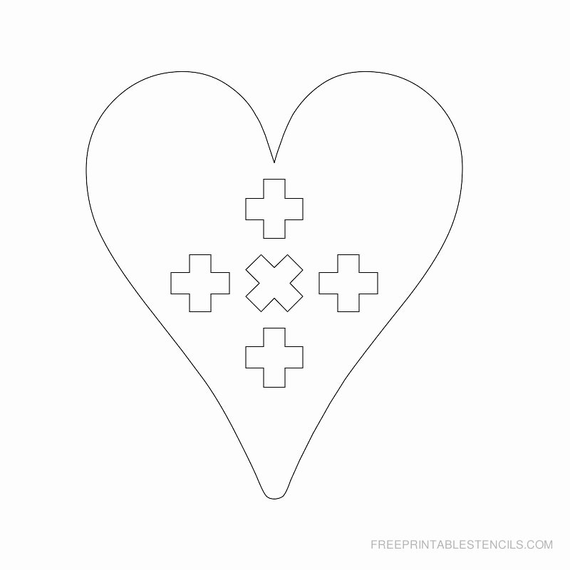 Cross Template Printable Free Best Of Printable Cross Stencils and Hearts