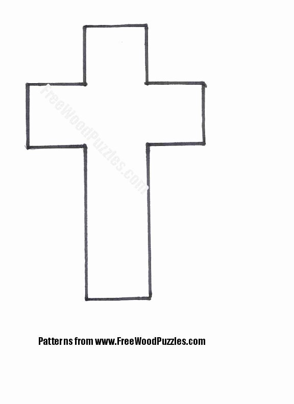 Cross Template Printable Free Unique Easy Easter Craft for Kids