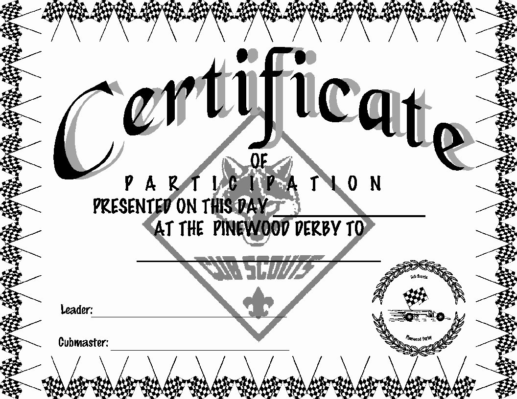 Cub Scout Award Certificate Template Lovely Alpine District Cub Scouts Pinewood Derby Certificates