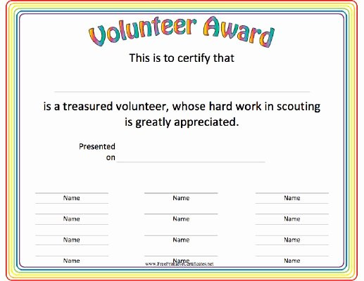 Cub Scout Award Certificate Template Lovely This Volunteer Award Certificate is A Great Thank You for
