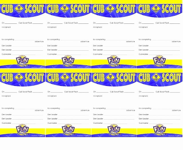 Cub Scout Certificate Of Appreciation Template Awesome This Pocket Certificate is Given to A Cub Scout In