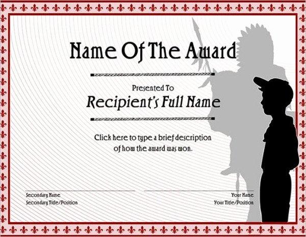 Cub Scout Certificate Template Elegant Boy Scout Certificate Template