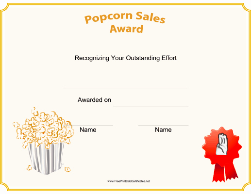 Cub Scout Certificate Template Fresh This Printable Scouting Award Certificate Features Popcorn