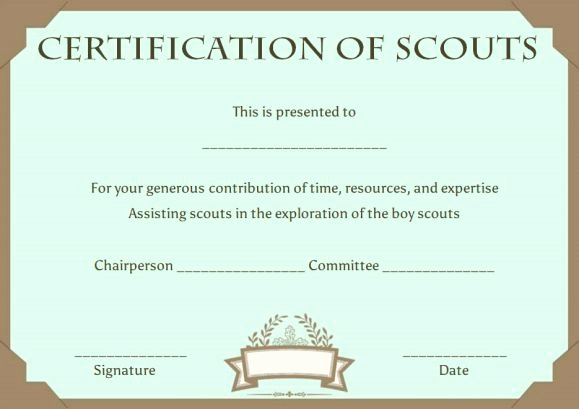 Cub Scout Certificate Template Inspirational Cub Scout Advancement Certificates Printable