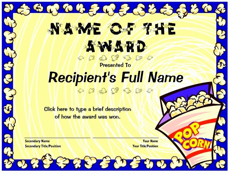 Cub Scout Certificate Template Lovely 26 Best Images About Cub Scout Popcorn Kickoff On