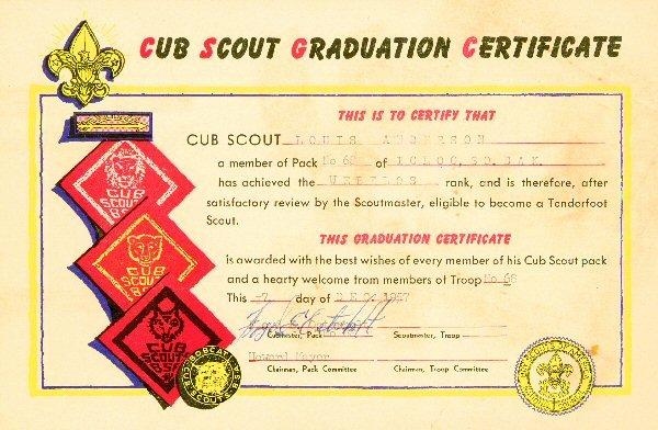 Cub Scout Graduation Certificate Template Beautiful Evite for Cub Scouts