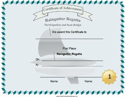 Cub Scout Graduation Certificate Template Inspirational A Sailboat Decorates This Raingutter Regatta First Place