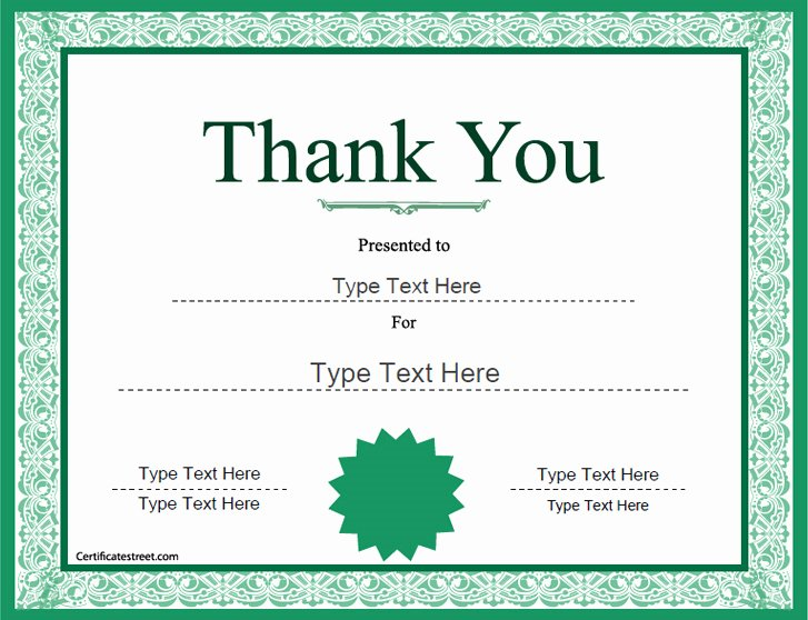 Cub Scout Graduation Certificate Template Lovely Special Certificates Thank You Award Template