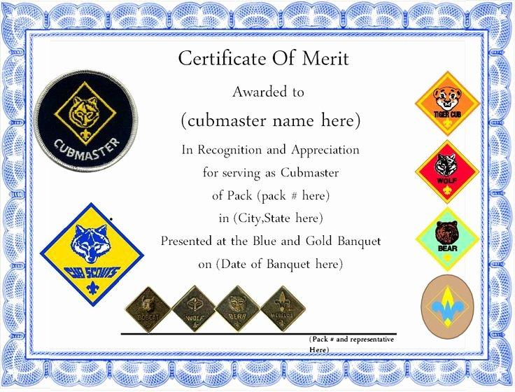 Cub Scout Graduation Certificate Template Luxury 9 Best Certificates Images On Pinterest