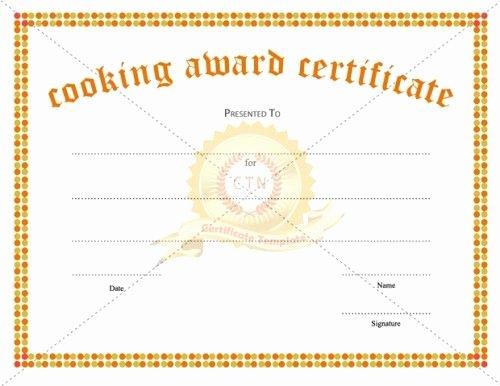 Cub Scout Graduation Certificate Template Luxury Looking for A Cooking Award Certificate Template for