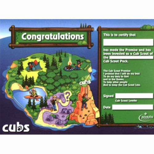 Cub Scout Pocket Certificate Template Awesome Cub Scout Investiture Certificates