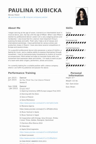 Dance Resume Template Microsoft Word Luxury Dance Resume Template