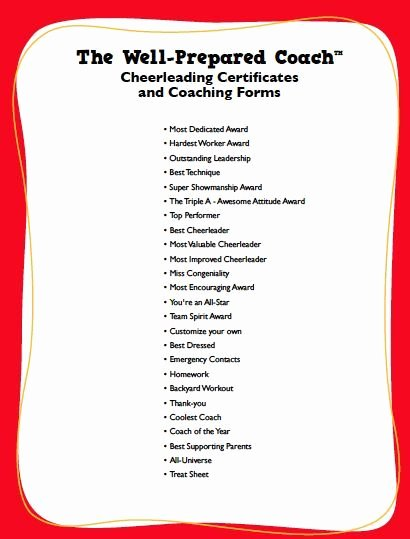 Dance Team Banquet Award Ideas Best Of Cheerleading Awards Google Search