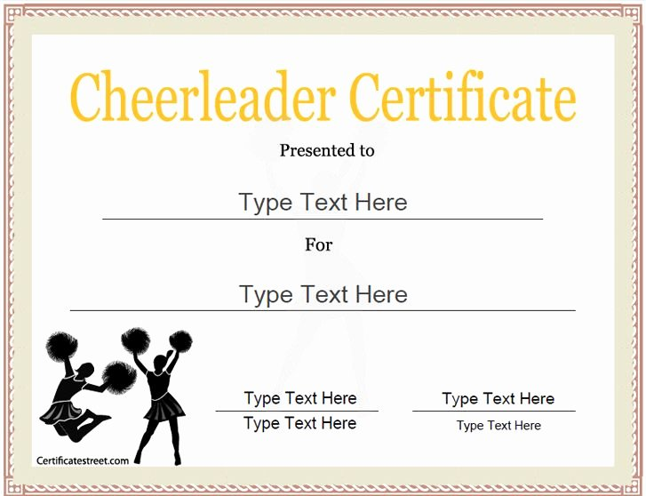 Dance Team Banquet Award Ideas Fresh Sports Certificate Cheerleader Certificate