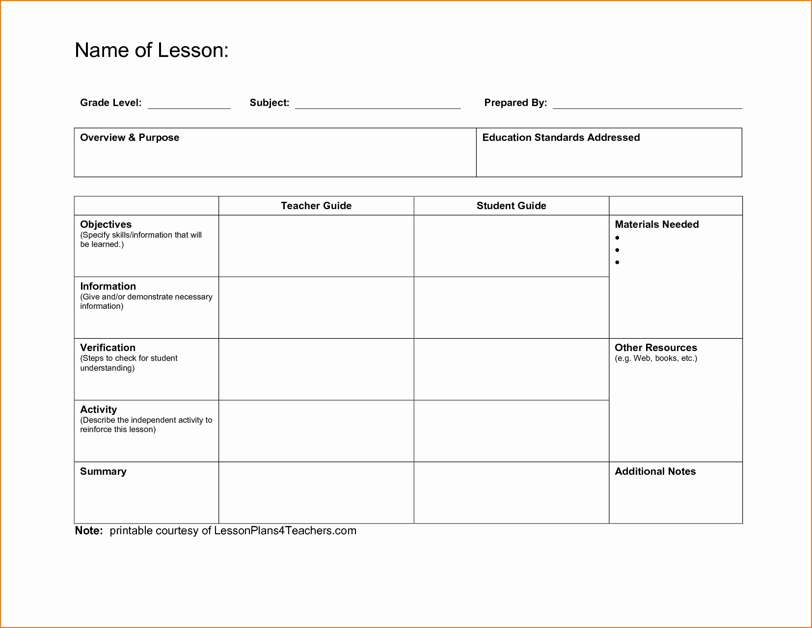 Dcps Lesson Plan Template Best Of 5 Free Lesson Plan Template