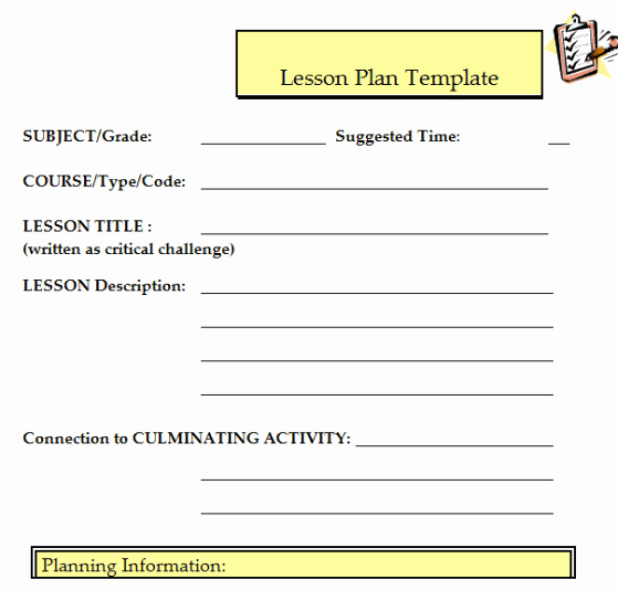 Dcps Lesson Plan Template Fresh 41 Free Lesson Plan Templates In Word Excel Pdf