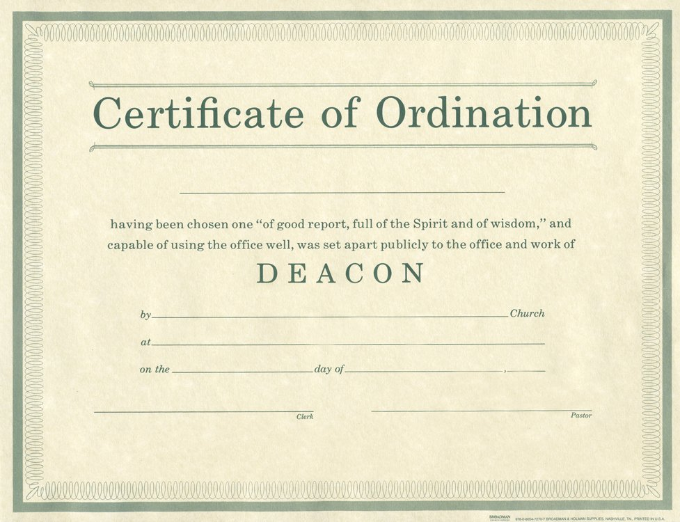 Deacon ordination Certificate Template Elegant Free Printable Deaconess ordination Certificate Tutore