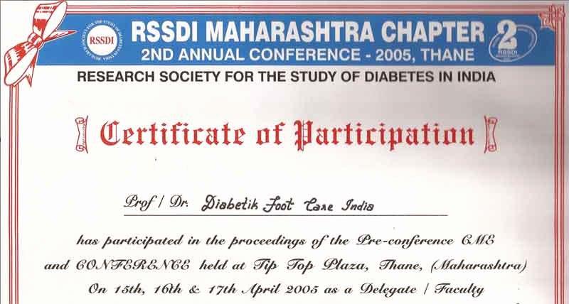Dealer Participation Certification form Best Of Participation Diabetik Foot Care India Pvt Ltd
