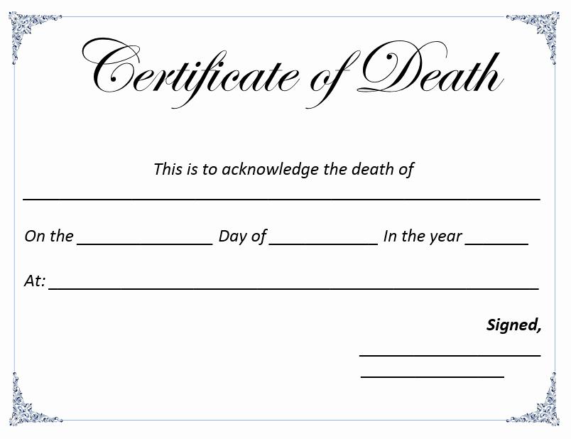 Death Certificate Template Microsoft Word Elegant Death Certificate Template Microsoft Word Templates