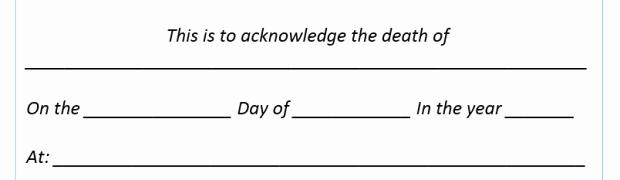 Death Certificate Template Word Elegant Certificate Templates