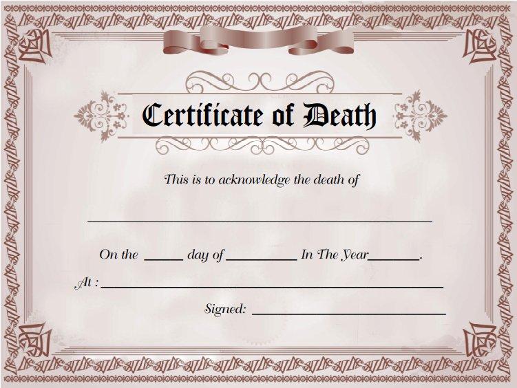 Death Certificate Template Word Inspirational Death Certificate Sample Of Death Certificate Template