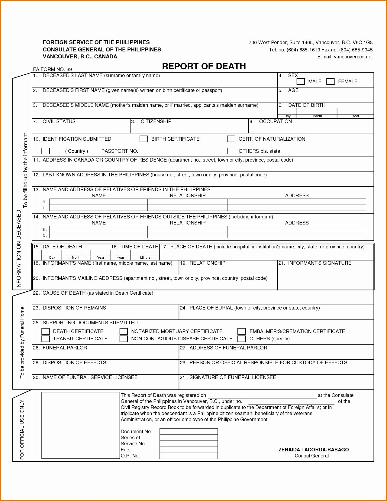 Death Certificate Template Word Lovely Death Certificate Template Word Carlynstudio