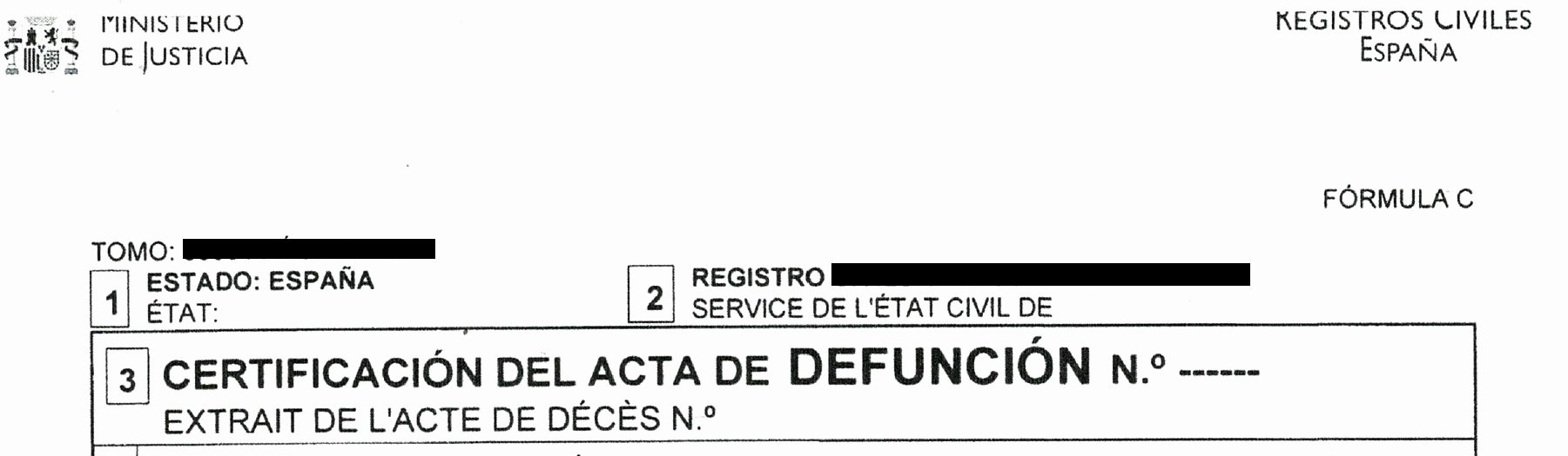 Death Certificate Translation Template Elegant Spanish Death Certificate Translation