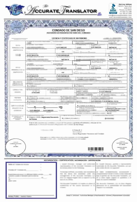 Death Certificate Translation Template English to Spanish Best Of Wedding Certificate Translated Into English
