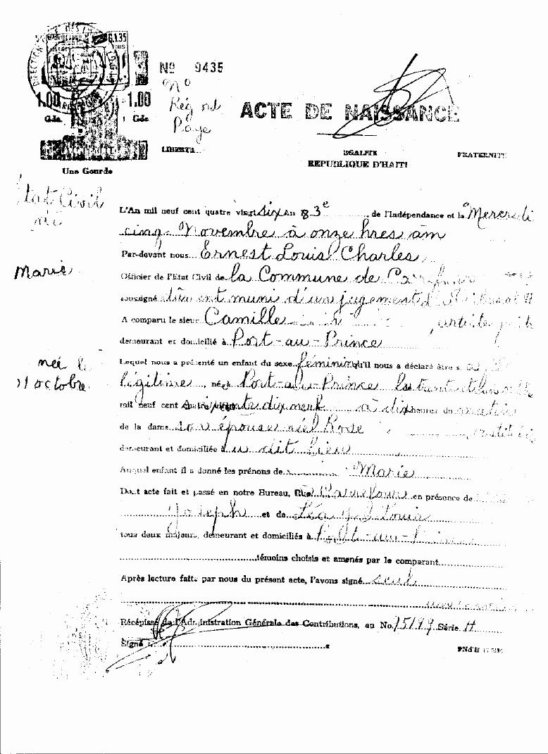Death Certificate Translation Template Fresh Caribbean Living Haitian Birth Certificate Img