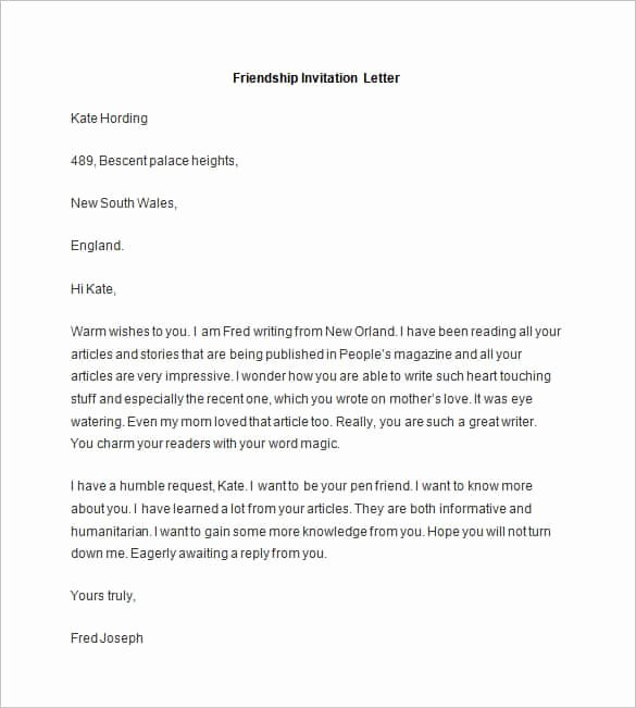Death Notification Letter to Friends Beautiful 49 Friendly Letter Templates Pdf Doc