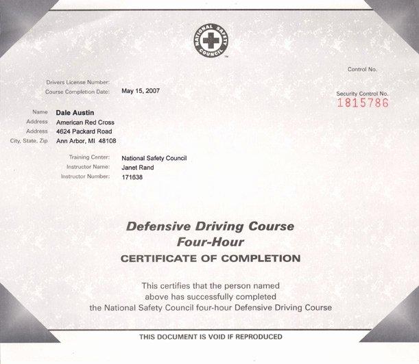 Defensive Driving Certificate Template Beautiful Certificates