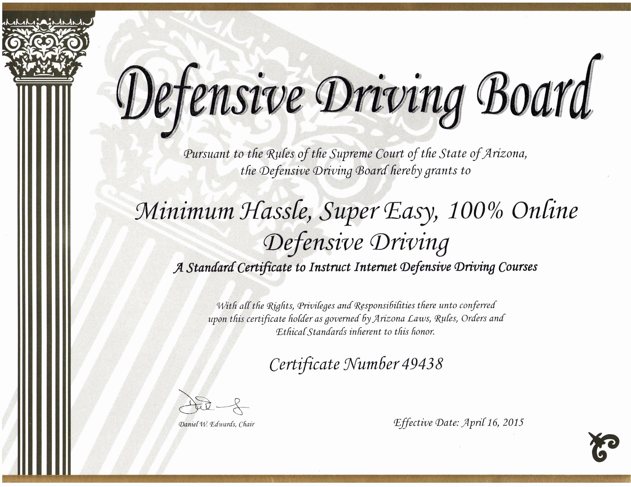Defensive Driving Certificate Template Elegant 30 Defensive Driving Certificate Template