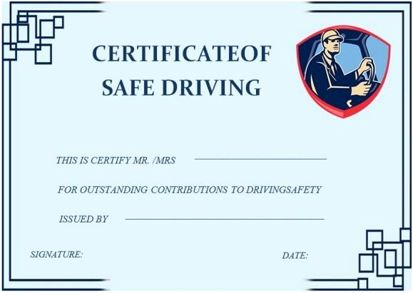 Defensive Driving Certificate Template Luxury 20 Best Safe Driving Certificate Template Images On Pinterest