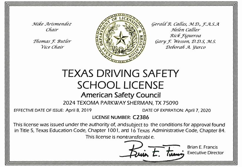 Defensive Driving Certificate Template Luxury Texas Defensive Driving $25