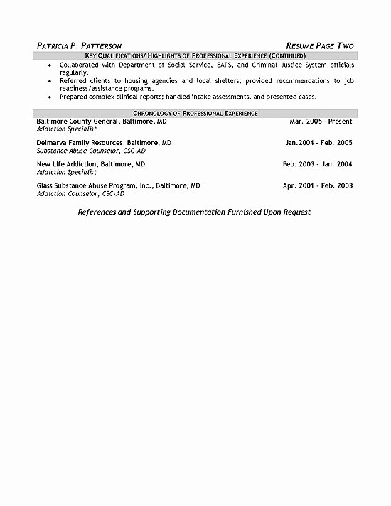 Degree In Progress On Resume Lovely therapist Counselor Resume Example
