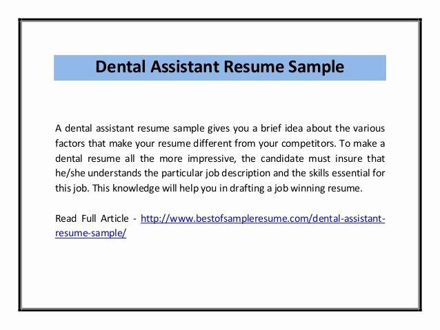 Dentist Cv Sample Pdf Inspirational Dental assistant Resume Sample Pdf